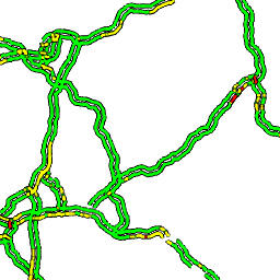 Traffic Pattern Tile for Frankfurt at 5:40PM on Monday