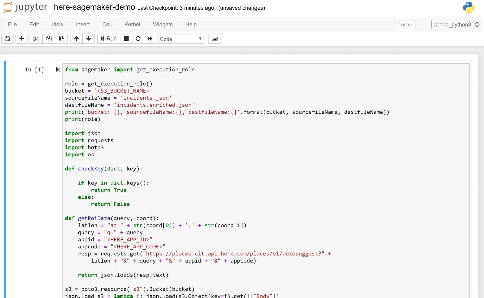 Extend Sagemaker with Location Intelligence - HERE Developer