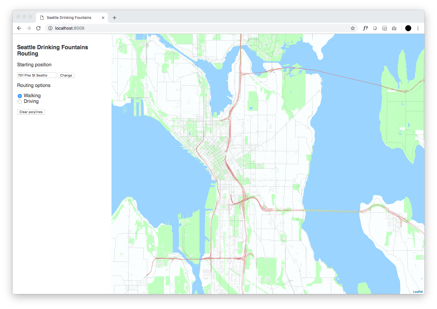 Use HERE Location Services Routing to navigate to features